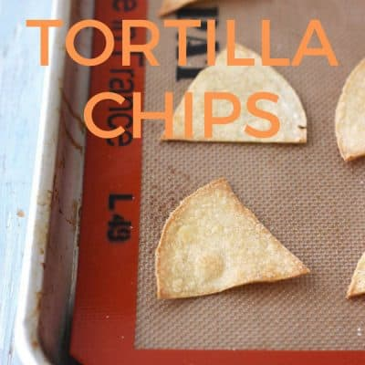 Toaster Oven Baked Corn Tortilla Chips