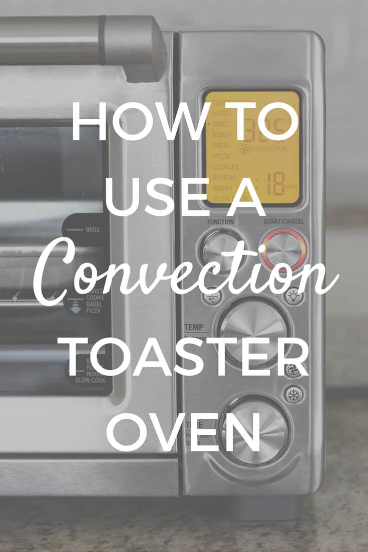 Convection toaster ovens are easy to use. With two small changes to your recipe's baking time and temperature you can cook up dishes that are crispy on the outside and tender on the inside every time.