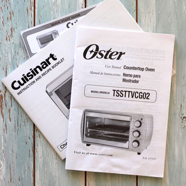 Toaster Oven Manual
