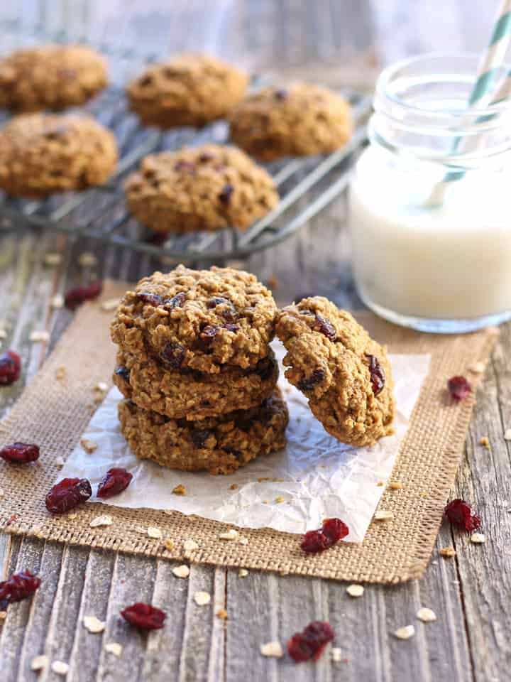 Cranberry Orange Toaster Oven Oatmeal Cookies. A simple whole grain recipe for toaster oven oatmeal cookies that's lighter on sugar but full of cranberry orange flavor!