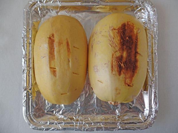 Toaster Oven Spaghetti Squash