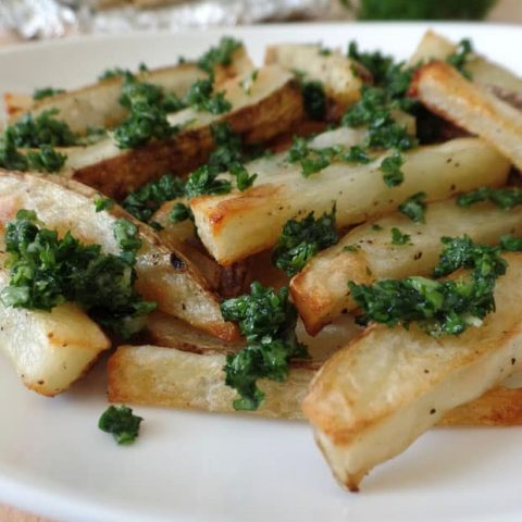 Toaster Oven Garlic Fries