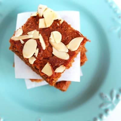 Honey Peanut Butter Almond Bars - Toaster Oven Recipe