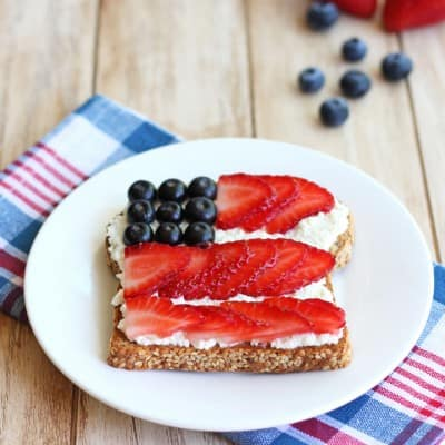 Berry Flag Toast