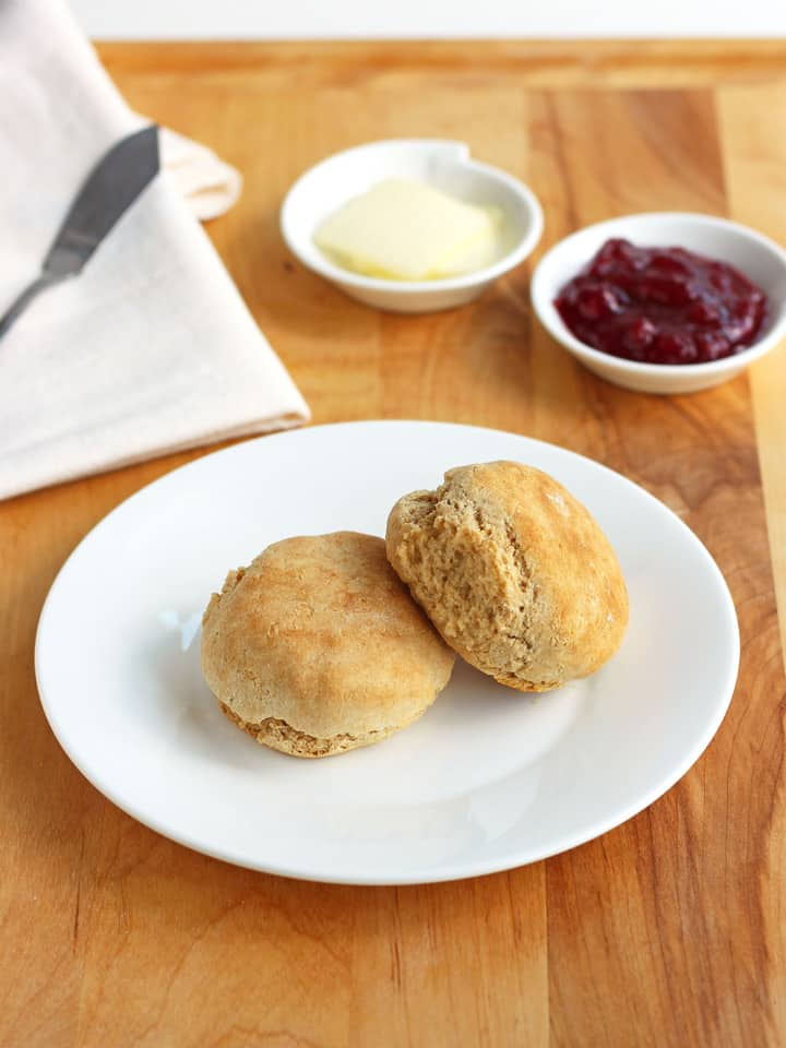 Toaster Oven Biscuits For Two, a simple 3-ingredient recipe for light and fluffy toaster oven baked biscuits.
