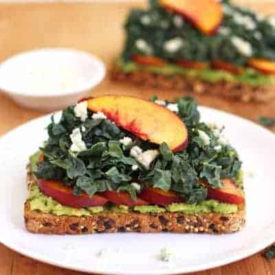 Quick Peach Avocado Toast