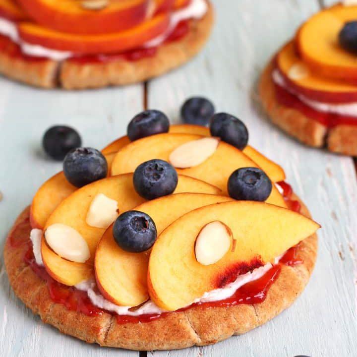 Peachy Pita Pizzas