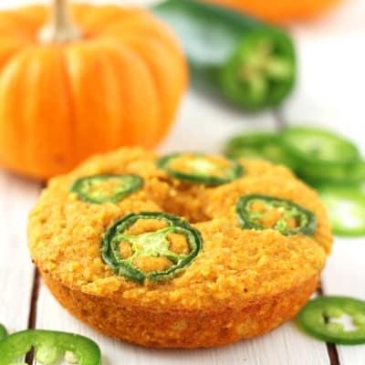 Jalapeño Pumpkin Cornbread Donuts