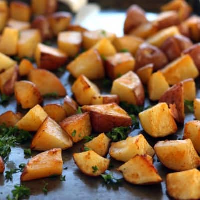 Spicy Sriracha Roasted Red Potatoes