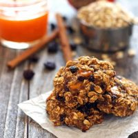 Persimmon Banana Breakfast Cookies