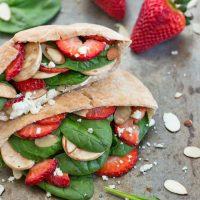 Strawberry Spinach Pita Pockets