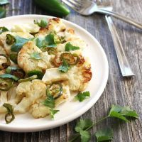 Jalapeño Roasted Cauliflower