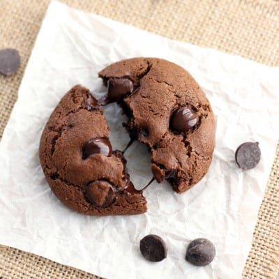 Toaster Oven Double Chocolate Cookies