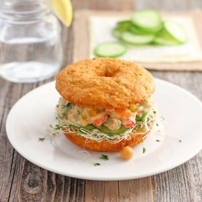 Cornbread Veggie Sandwich