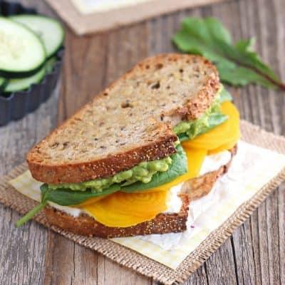 Golden Beet and Avocado Sandwich