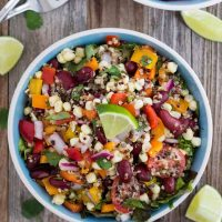 Summer Corn and Quinoa Veggie Salad