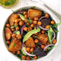 Roasted Baby Potatoes and Chickpea Salad Recipe