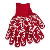 Sur La Table Floral Vine Small Oven Gloves, Set of 2, Red