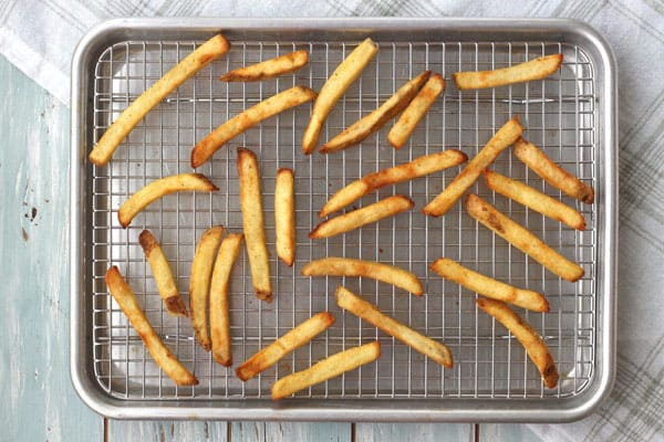 Use your toaster oven's convection function to cook frozen fries. They'll be the crispiest baked fries you've ever had.