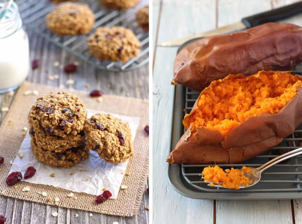 Toaster Oven Cookies and Baked Sweet Potatoes