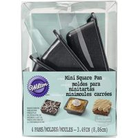 Wilton Mini Non-stick Square Cake Pans Set, 4-Piece
