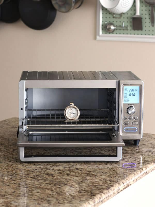 Cuisinart Chef's Convection Toaster Oven on a kitchen counter.