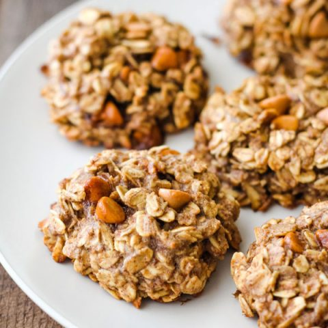 Butterscotch Banana Oatmeal Cookies