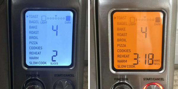 Breville Smart Oven Pro Screen with Toast Selected
