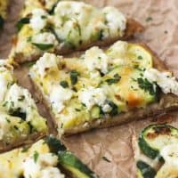 Broiled Zucchini and Lemon Ricotta Flatbread