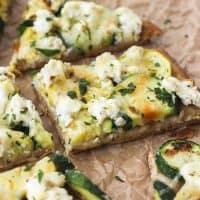 Broiled Zucchini and Lemon Ricotta Flatbread