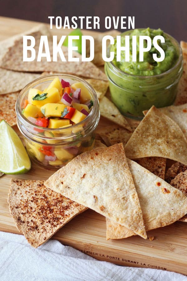 Toaster Oven Baked Flour Tortilla Chips