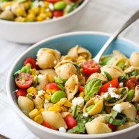 Corn and Tomato Chickpea Pasta Recipe
