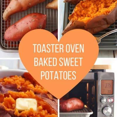 The Ultimate Guide for how to prep and bake sweet potatoes in your toaster oven. Learn which varieties are best for baking and get step-by-step directions to make the best tasting toaster oven baked sweet potato t