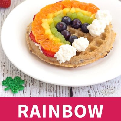 Rainbow Fruit Waffles
