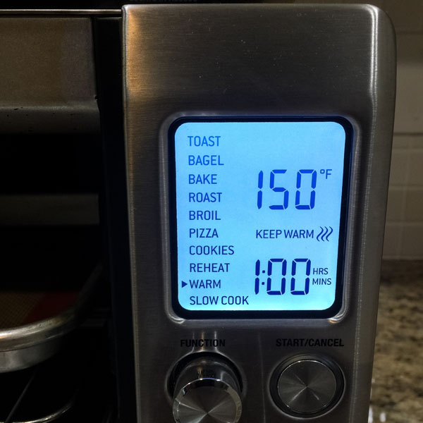 Breville Smart Oven Pro Display Screen