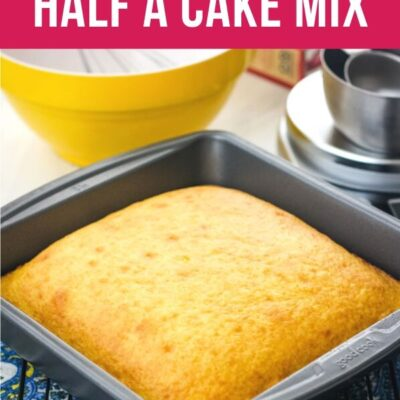 How to Make Half a Cake Mix
