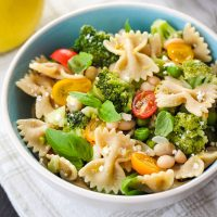 Lemon Veggie Pasta For Two
