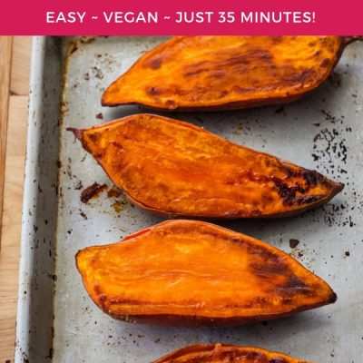 Quick Baked Sweet Potatoes