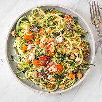 Quinoa and Zucchini Noodles Salad