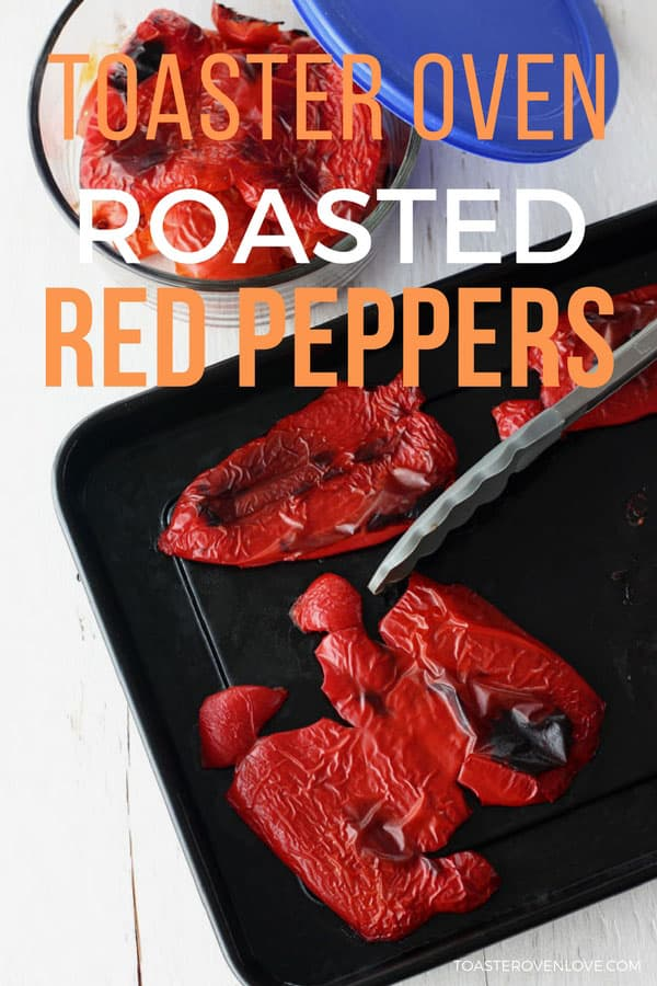 Learn how to roast red peppers in your toaster oven. They're great to have on hand for adding to sandwiches and pizzas and can even be frozen.