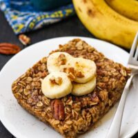 Toaster Oven Baked Oatmeal