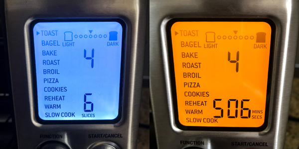 Control panel for a Breville Smart Oven Pro.