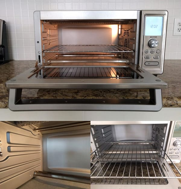 Photo Grid showing clean toaster oven interior.