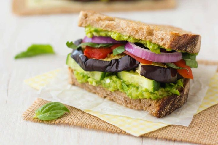 Broiled Eggplant Sandwich