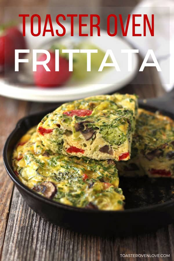 This easy toaster oven frittata for two is stuffed full of veggies, high in protein and tastes so darn good you'll want to eat it all day, every day.