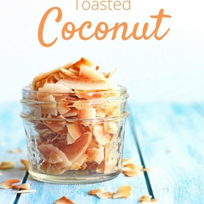 How to Toast Coconut in your Toaster Oven is your ultimate guide for toasting any kind of dried coconut using a toaster oven. Flaked, shredded or chips, we've got you covered!