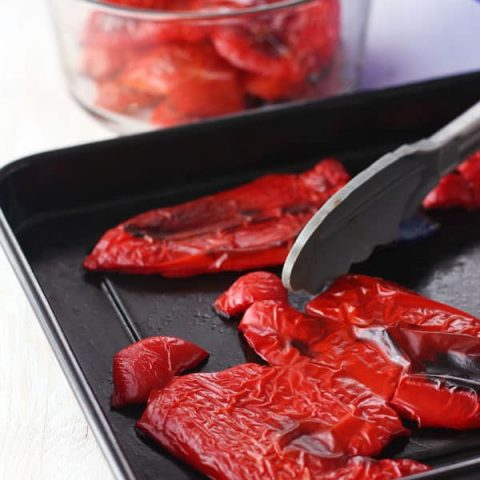 Toaster Oven Roasted Red Peppers