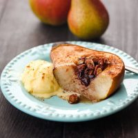 Toaster Oven Baked Pears