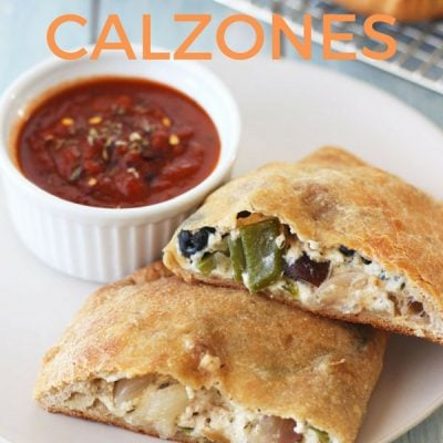 3 Cheese Toaster Oven Calzones With Roasted Vegetables