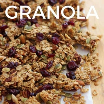 Clumpy Maple Pecan Granola